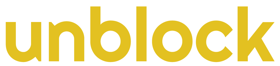 unblock logo gold
